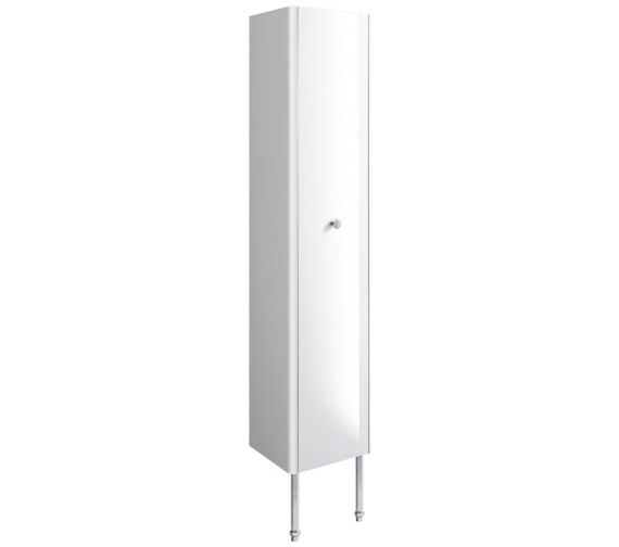 Bauhaus Waldorf 350mm White Gloss Tower Unit With Legs And Knob