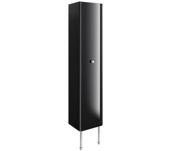 Bauhaus Waldorf 350mm Black Gloss Tower Unit With Legs And Knob