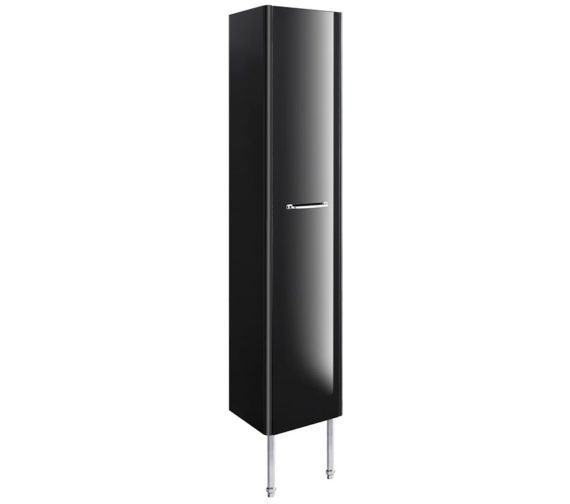 Bauhaus Waldorf 350mm Black Gloss Tower Unit With Legs And Handle