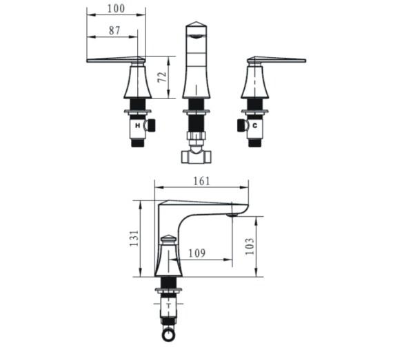 Technical drawing QS-V14289 / EBY 3HBAS C