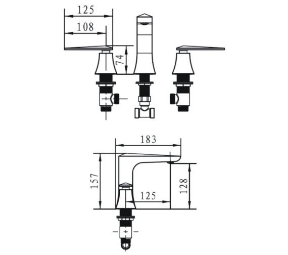 Technical drawing QS-V14290 / EBY 3HBF C