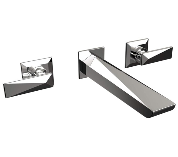 Bristan Ebony 3 Hole Wall Mounted Basin Mixer Tap