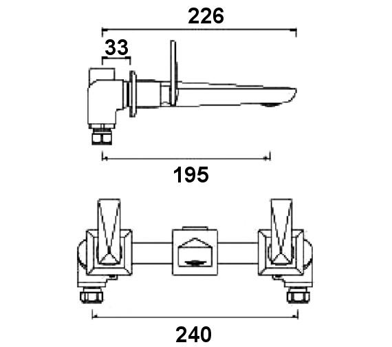 Technical drawing QS-V6963 / EBY 3HWMBAS C