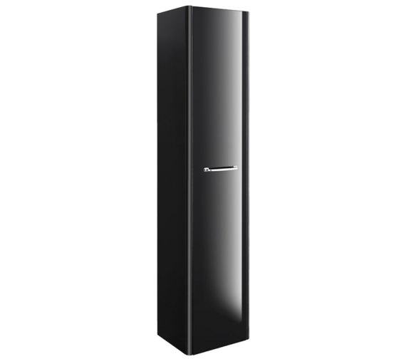 Bauhaus Waldorf 350 x 1600mm Black Gloss Tower Unit With Handle