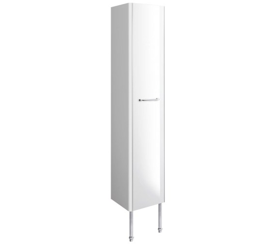 Bauhaus Waldorf 350mm White Gloss Tower Unit With Legs And Handle