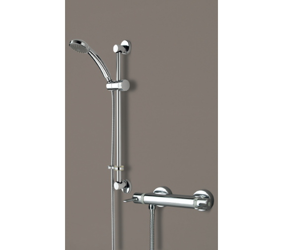 Bristan Design Utility Bar Shower Mixer With Adjustable Riser Kit