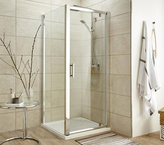 Alternate image of Beo Framed Pivot Shower Door 760mm