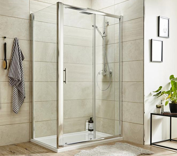 Alternate image of Nuie Pacific 1850mm High Single Sliding Shower Door