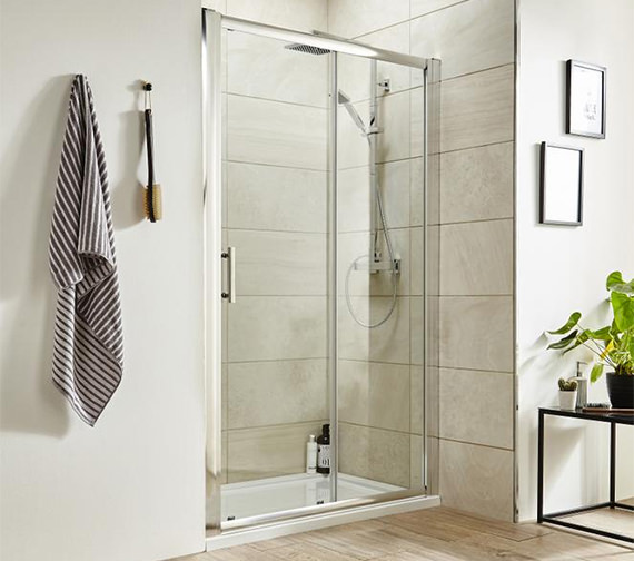 Premier Pacific 1000 x 1850mm Single Sliding Shower Door