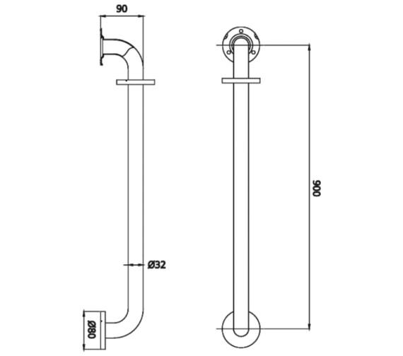 Technical drawing QS-V6967 / EV KIT-EGB C