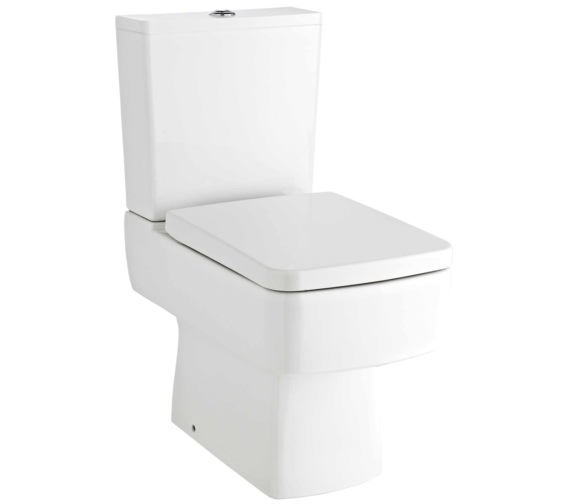 Nuie Bliss 615mm Close Coupled Compact Semi Flush To Wall Pan With Cistern