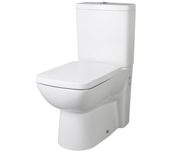 Nuie Ambrose Closed Coupled Flush To Wall WC Pan 640mm With Cistern And Seat