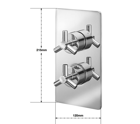 Alternate image of Sagittarius Zone Concealed Thermostatic Shower Valve With 2 Way Diverter