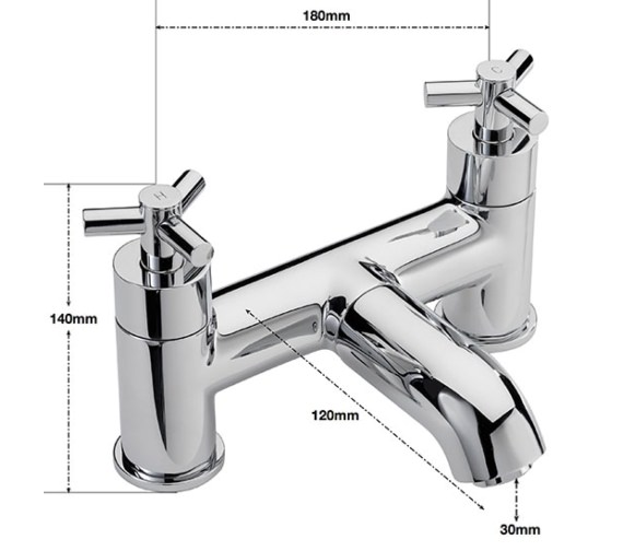 Alternate image of Sagittarius Zone Deck Mounted Bath Filler Tap