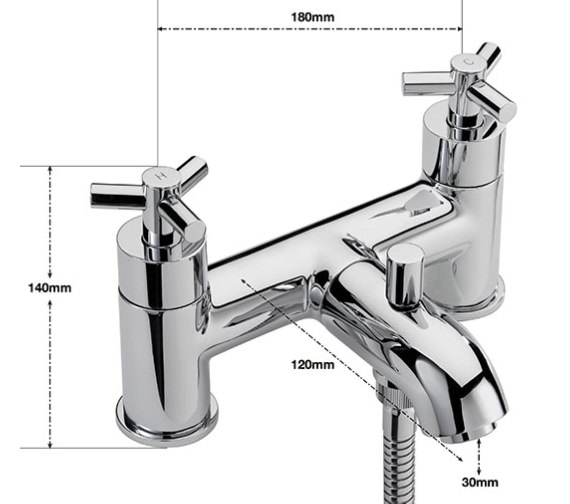 Alternate image of Sagittarius Zone Deck Mounted Bath Shower Mixer Tap And No.1 Kit