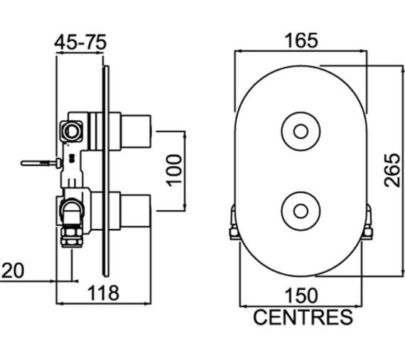 Technical drawing QS-V6872 / AR3 SHCDIV C