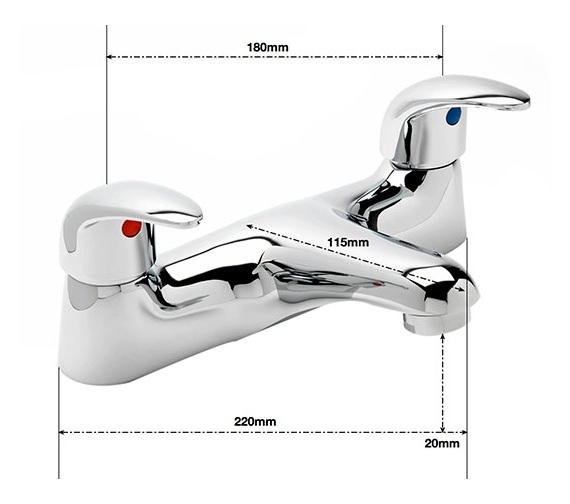 Alternate image of Sagittarius Prestige Deck Mounted Twin Lever Bath Filler Tap