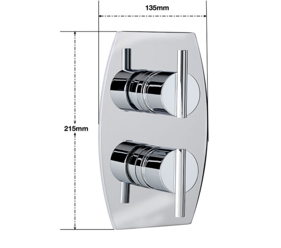 Alternate image of Sagittarius Pure Concealed Thermostatic Shower Valve With 2 Way Diverter