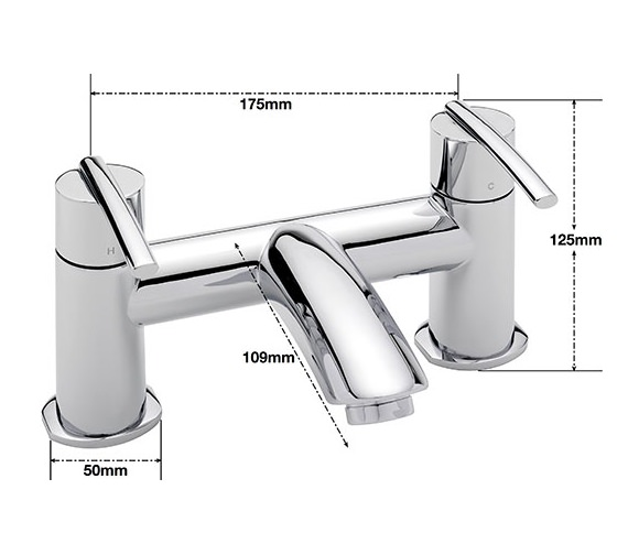 Alternate image of Sagittarius Pure Deck Mounted Bath Filler Tap