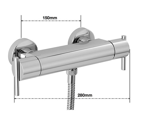 Alternate image of Sagittarius Pure Exposed Thermostatic Bar Shower Valve
