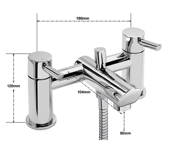 Alternate image of Sagittarius Rocco Deck Mounted Bath Shower Mixer Tap With No.1 Kit