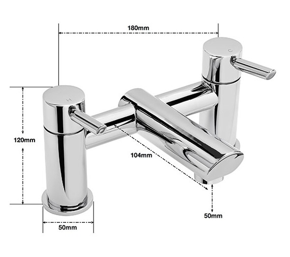 Alternate image of Sagittarius Rocco Deck Mounted Bath Filler Tap