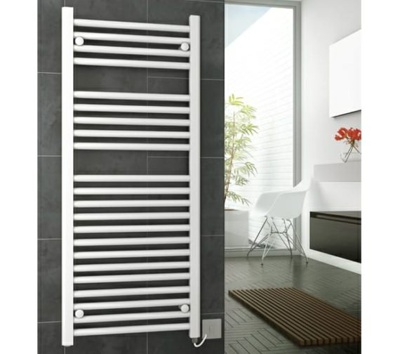 DQ Heating Metro Electric Towel Rail 300 x 800mm