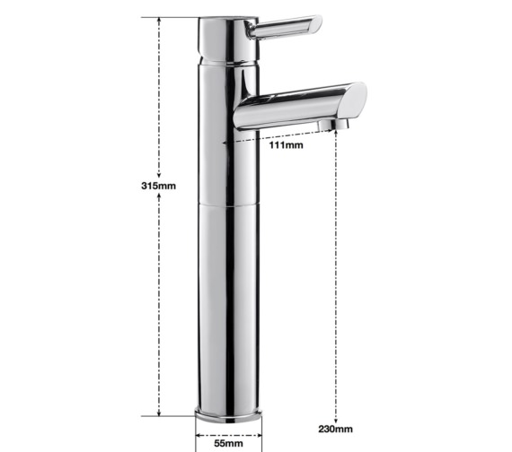 Alternate image of Sagittarius Rocco Extended Monobloc Basin Mixer Tap With Sprung Waste