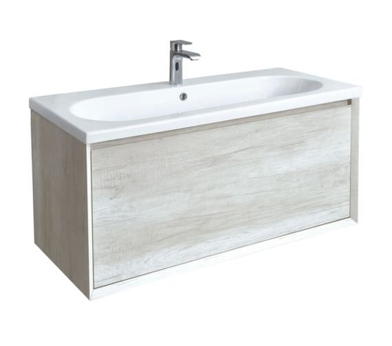 Phoenix Enzo 1010mm Taiga Wall Mounted Vanity Unit With Ceramic Basin