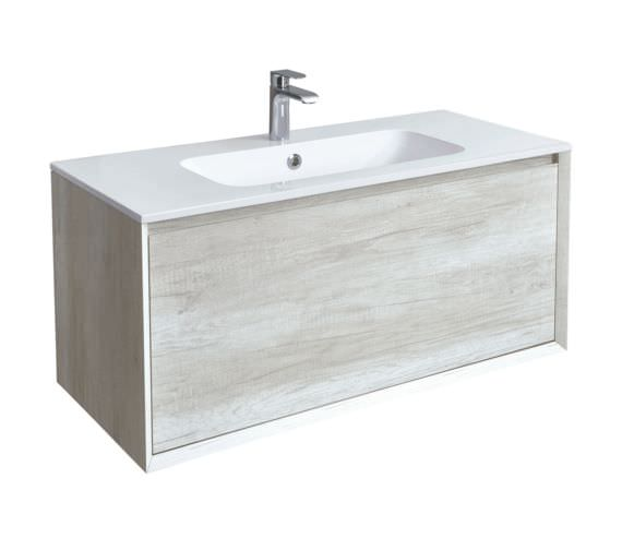 Phoenix Enzo 1010mm Taiga Wall Mounted Vanity Unit With Mineral Cast Basin