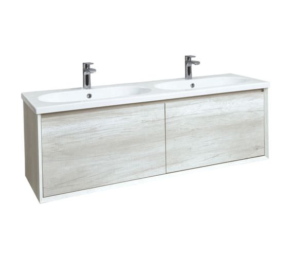 Phoenix Enzo 1410mm Taiga Wall Mounted Vanity Unit With Ceramic Basin