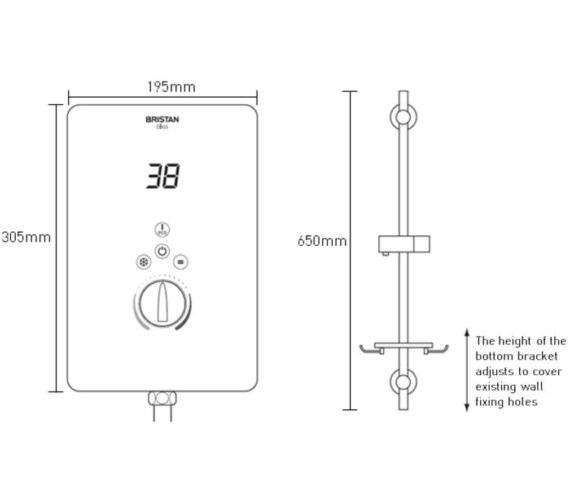 Technical drawing QS-V6881 / BL3105 W