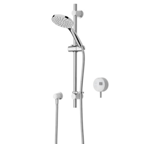 Bristan Artisan Digital Electric Mixer Shower With Adjustable Riser White