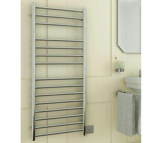 DQ Heating Siena Electric Towel Rail 350 x 1190mm