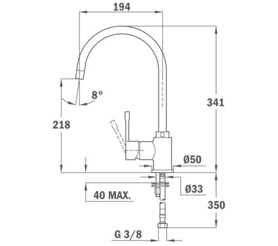 Technical drawing QS-V86131 / BTK108