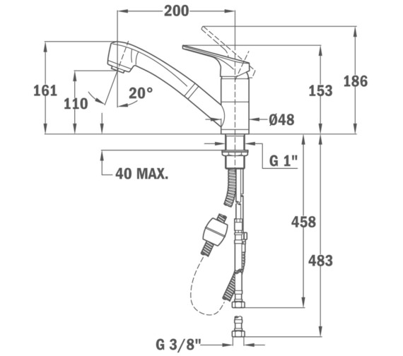 Technical drawing QS-V86132 / BTK110