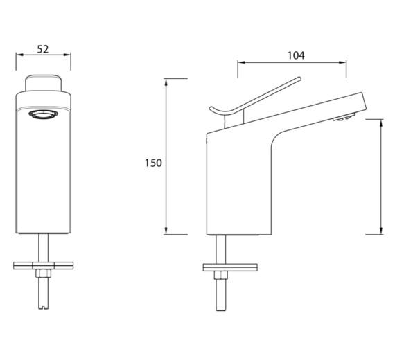 Technical drawing QS-V82456 / ALP 1HBF C