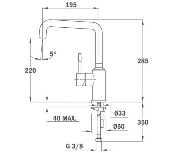 Technical drawing QS-V86136 / BTK150