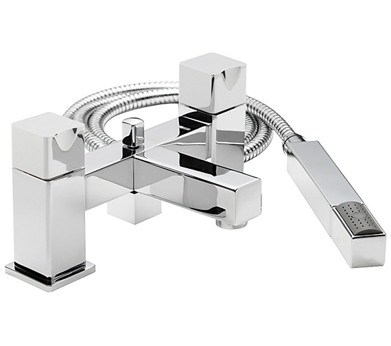 Sagittarius Matisse Deck Mounted Bath Shower Mixer Tap With No.1 Kit