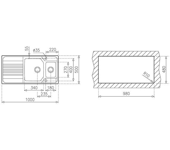 Technical drawing QS-V84233 / CTK1090
