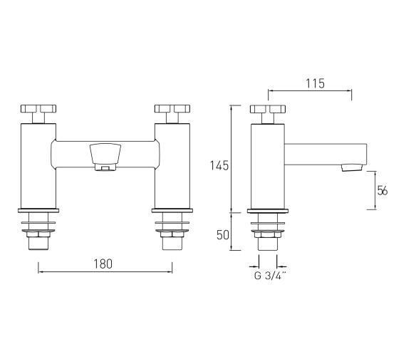 Technical drawing QS-V6901 / CAS BF C