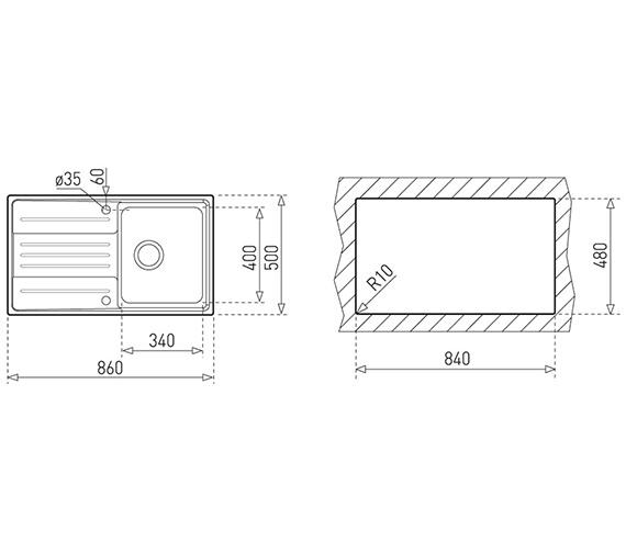 Technical drawing QS-V84235 / CTK1022