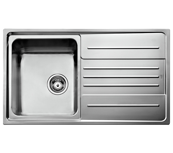 Teka Stage 45 B Stainless Steel 1.0 Bowl Right Hand Drainer Inset Sink