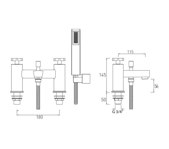 Technical drawing QS-V6902 / CAS BSM C