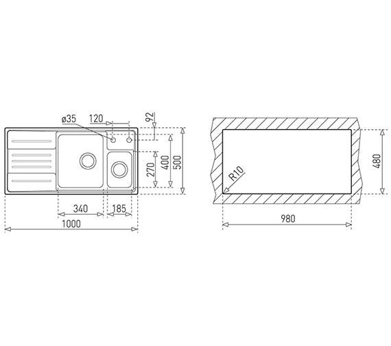 Technical drawing QS-V84237 / CTK1026