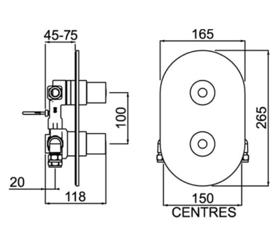Technical drawing QS-V6874 / AR3 SHCVO C
