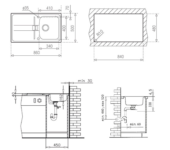 Technical drawing QS-V84238 / CTK1084