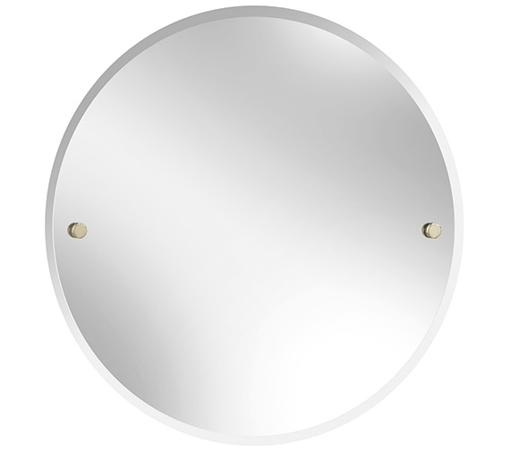 Heritage Harlesden 610mm Round Mirror With Vintage Gold Fitting