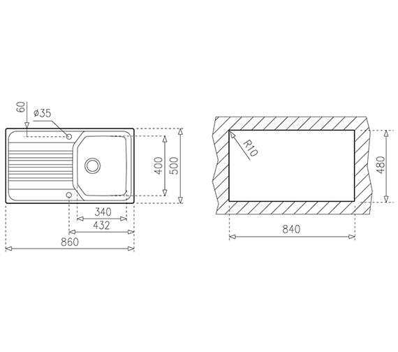 Technical drawing QS-V84232 / CTK1088