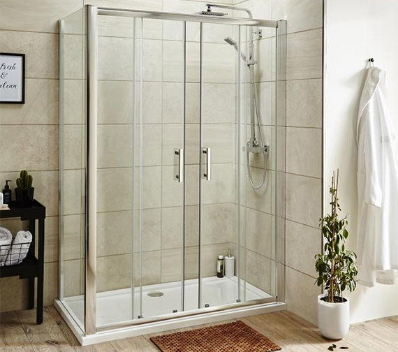 Alternate image of Nuie Pacific 1400 x 1850mm Double Sliding Shower Door